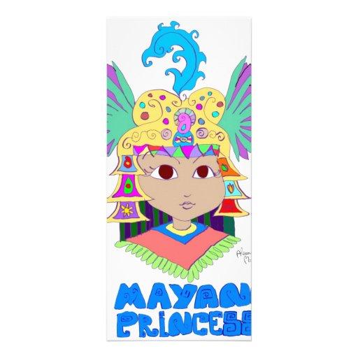 """Princesa maya folleto publicitario 4"""" x 9"""""""