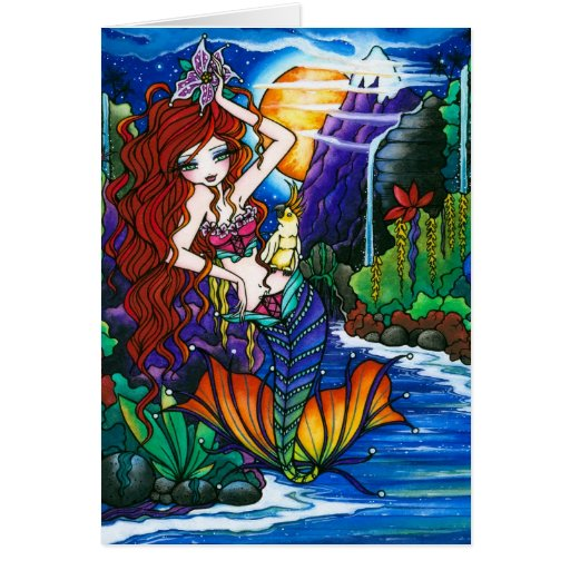 Princesa Mermaid Fairy Cockatoo Card de Maui Tarjetón