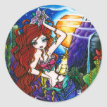 Princesa Mermaid Fairy Cockatoo de Maui Pegatinas Redondas