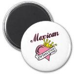Princesa mexicana imanes de nevera