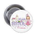 Princesa Middle Sister del unicornio Pins