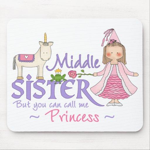 Princesa Middle Sister del unicornio Tapetes De Raton