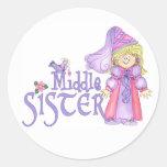 Princesa Middle Sister Pegatinas Redondas