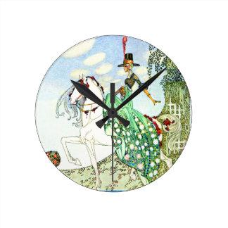 Princesa Minotte del cuento de hadas de Kay Nielse Reloj De Pared