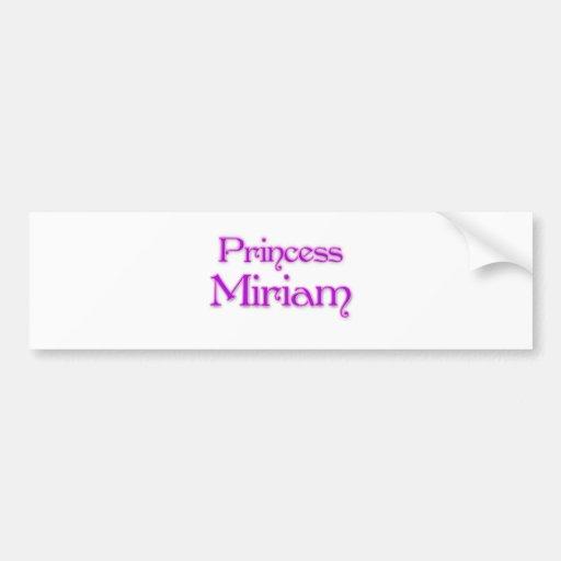 Princesa Miriam Etiqueta De Parachoque