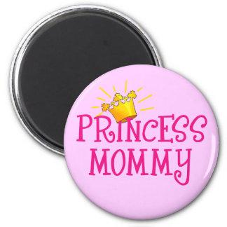 Princesa Mommy T-shirts, regalos Imán Redondo 5 Cm