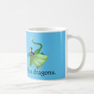 Princesa Mug del dragón Taza Básica Blanca