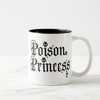 Princesa Mug del veneno Taza De Dos Tonos