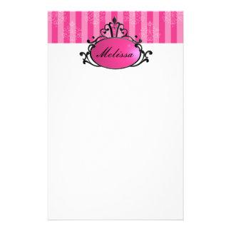 Princesa Name Filigree Personalized Stationery