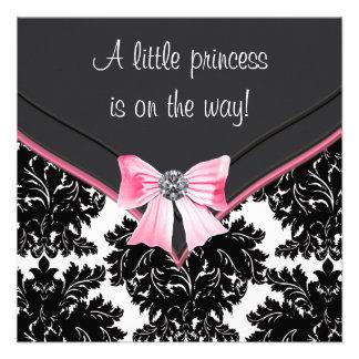Princesa negra fiesta de bienvenida al bebé del ar invitación personalizada