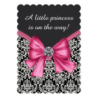 Princesa negra rosada elegante fiesta de bienvenid