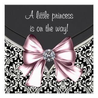 Princesa negra rosada elegante fiesta de bienvenid anuncios