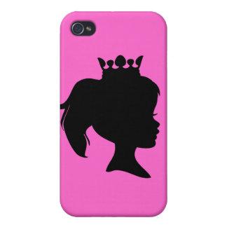 Princesa negra T-shirts y regalos de la silueta iPhone 4 Fundas