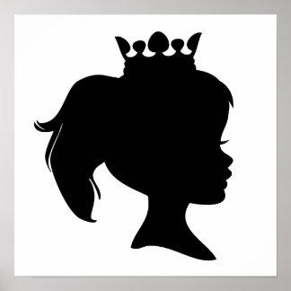 Princesa negra T-shirts y regalos de la silueta Póster