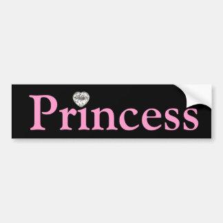 Princesa negra y rosada pegatina para el parachoqu pegatina de parachoque
