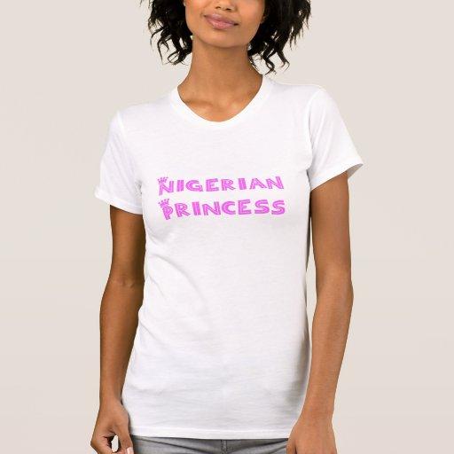 Princesa nigeriana camiseta