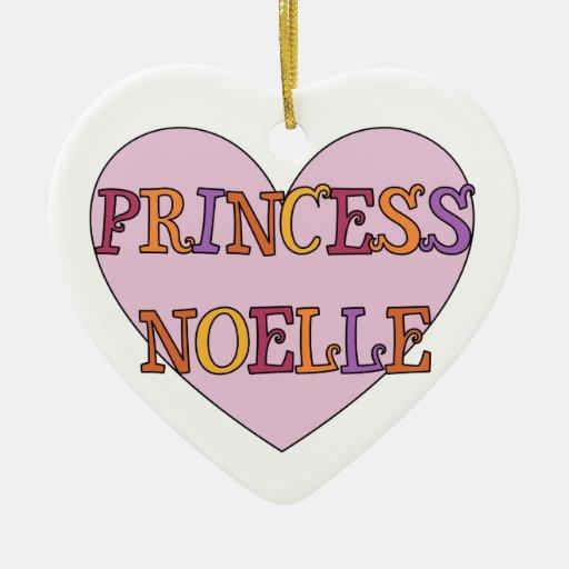 Princesa Noelle Ornament Adorno Navideño De Cerámica En Forma De Corazón