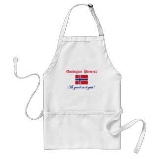 Princesa noruega 2 delantal