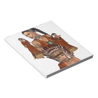 Princesa Notepad del nativo americano Blocs De Notas