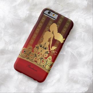 Princesa nupcial de oro Tiara Crown Funda Barely There iPhone 6