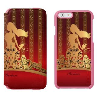 Princesa nupcial de oro Tiara Crown Funda Billetera Para iPhone 6 Watson