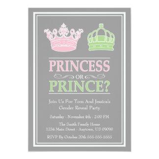 Princesa o príncipe Gender Reveal Party Invitaciones Personales