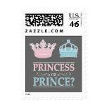 Princesa o príncipe Gender Reveal Party Postage