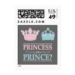 Princesa o príncipe Gender Reveal Party Postage Sellos