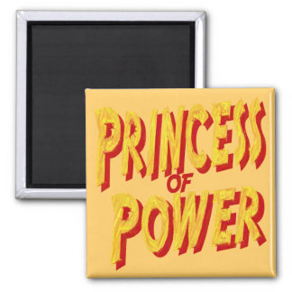 Princesa Of Poder-Imán Imán Cuadrado