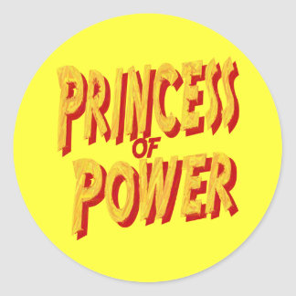 Princesa Of Poder-Pegatina Pegatina Redonda