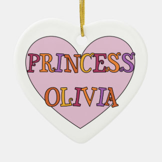 Princesa Olivia Ornament Adorno Navideño De Cerámica En Forma De Corazón