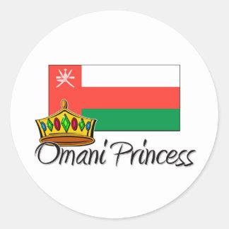 Princesa omaní pegatina redonda