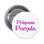 Princesa Pamela Pin Redondo De 2 Pulgadas