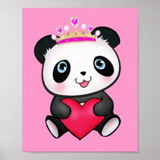 Princesa Panda Poster Sweet Gift para el dormitori