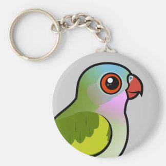 Princesa Parrot Llavero Redondo Tipo Pin