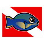 Princesa Parrotfish Dive Flag del dibujo animado Postal