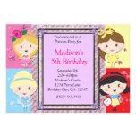 Princesa Party Birthday Invitation de los chicas Invitacion Personal