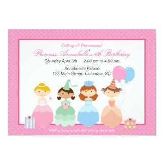 """Princesa Party Invitación 5"""" X 7"""""""