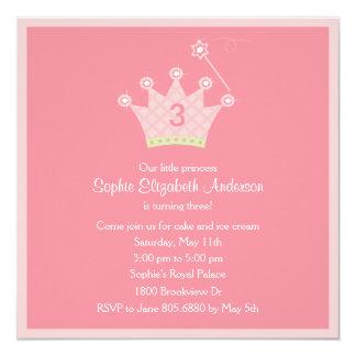 Princesa Party Invitation Anuncio Personalizado