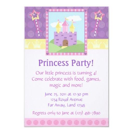 Princesa Party Invitation Invitaciones Personales
