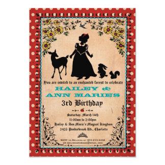 Princesa Party Invitation (para los gemelos o 2 Anuncio Personalizado
