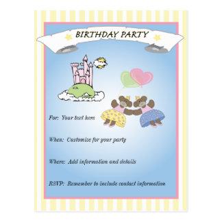 Princesa Party Invitation Postales