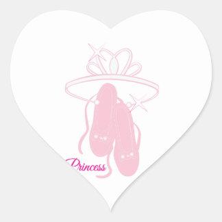 Princesa Pegatina En Forma De Corazón