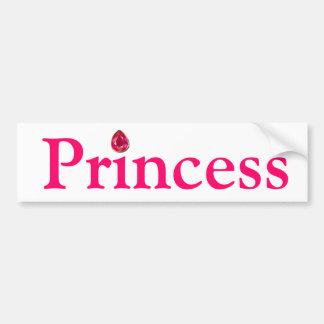 Princesa pegatina para el parachoques etiqueta de parachoque