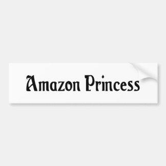 Princesa pegatina para el parachoques del Amazonas Pegatina De Parachoque