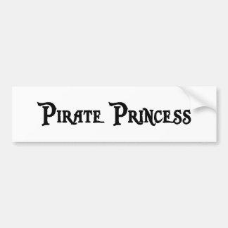 Princesa pegatina para el parachoques del pirata pegatina para auto