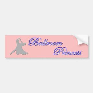 Princesa pegatina para el parachoques del salón de pegatina para auto