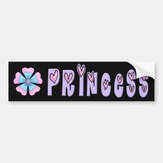Princesa pegatina para el parachoques pegatina para auto