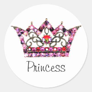 """""""Princesa"""" pegatinas Pegatinas Redondas"""
