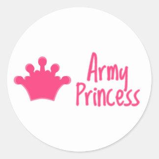 """Princesa"" pegatinas del ejército Pegatina Redonda"